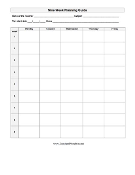 Galerry printable lesson plans for teachers