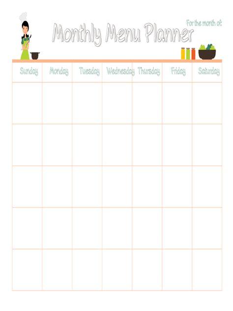menu planner template   templates   word excel