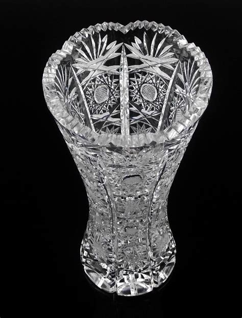 Cut Glass Vase by Cut Slovak Vase From Its A Basketcase On Ruby