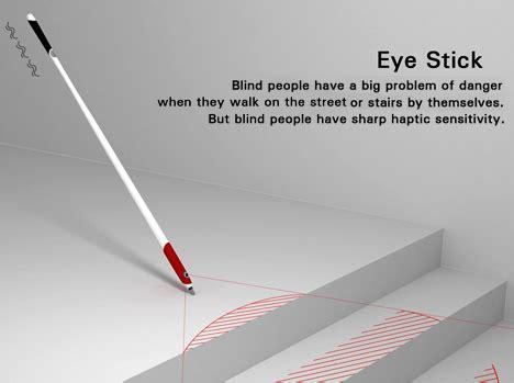 Blind Cane Color Blind Stick With Eyes Yanko Design