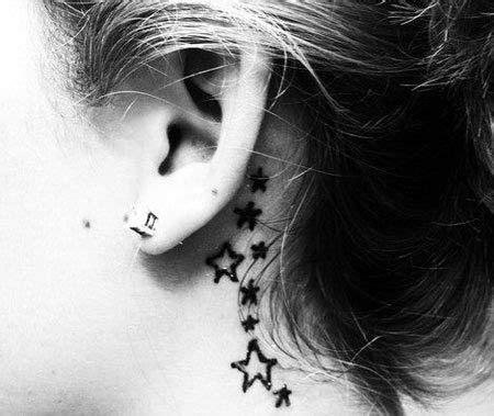 tattoo pen behind ear behind the ear tattoos curves design and virgos