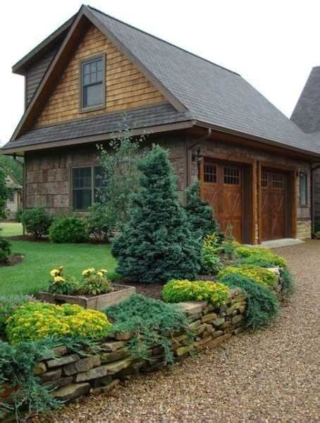 Landscaping Ideas Garage Area Charming Country Home Driveways Driveway
