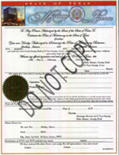 El Paso Tx Marriage Records Epcounty County Clerk Marriage