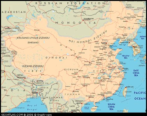 road map of china road map of china physical political and road maps of