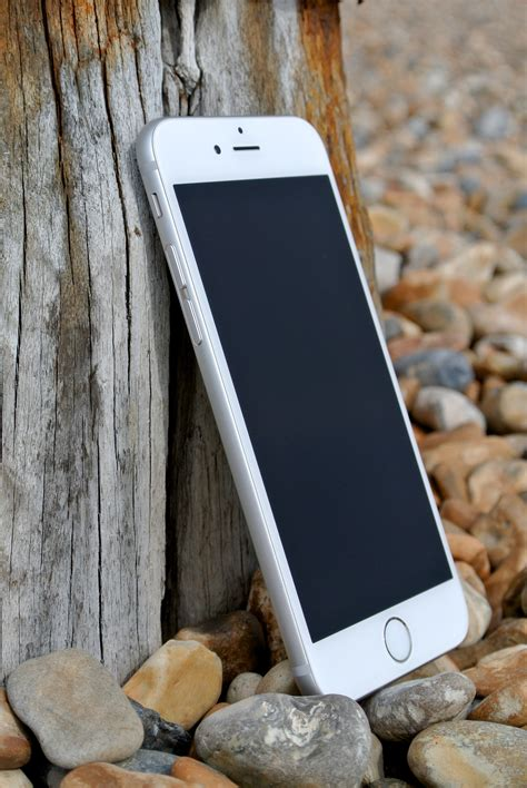 silver iphone   stock photo