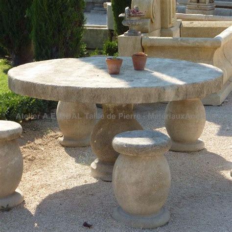 Table Ronde De Jardin 7631 table de jardin de forme ronde en mobilier artisanal ae