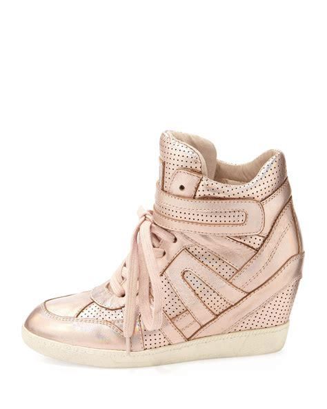 gold wedge sneaker ash beck metallic wedge sneaker gold in gold