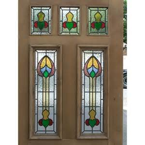 Stained Glass Front Door Panels Sd037 Edwardian Original Exterior Stained Glass Nouveau 7 Panel Door