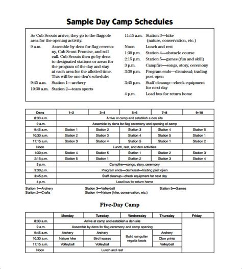 activity programme template c schedule templates 9 free word excel pdf formt