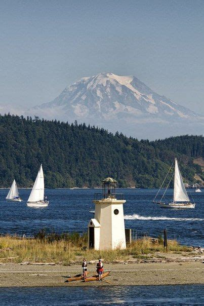 gig harbor home depot light station along the shoreline http www