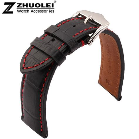 High Quality Leather Snks 18mm 20mm 22mm Tali Jam Kulit Asli highquality 18mm 19mm 20mm 21mm 22mm 23mm 24mm new black genuine leather watchband