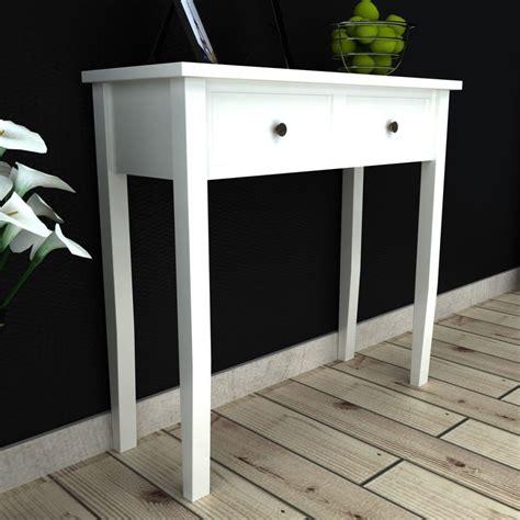 tavolo consolle bianco articoli per tavolo consolle con 2 cassetti bianco vidaxl it