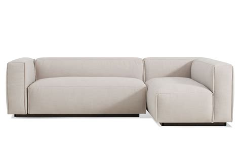 small couch sectionals cleon small sectional sofa hivemodern com