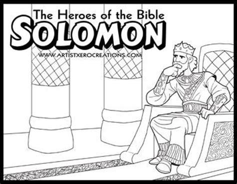 the heroes of the bible coloring pages solomon
