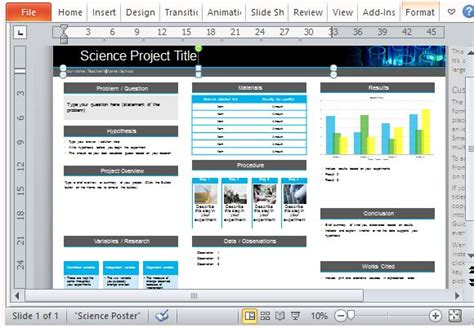 powerpoint template for poster science project poster template science fair project