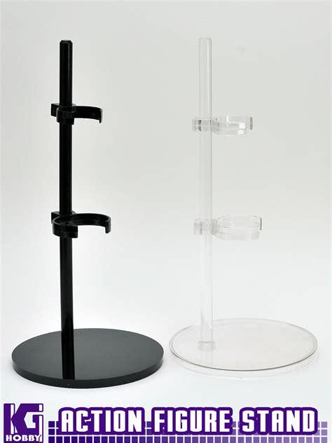 6 figure stands black adjustable figure model kit plastic display