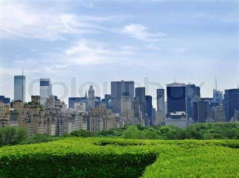 Landscape Architecture License New York Landscape Of New York Skyscrapers Blue Sky