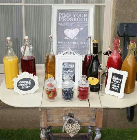 pansy breakfast on pinterest drink stations table pimp your prosecco bar fab idea wedding pinterest