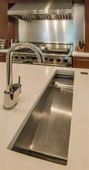 Prep Sinks For Kitchen Islands In Island Trough Sink Makes Prep So Much Easier Housetrends Kitchens That Cook