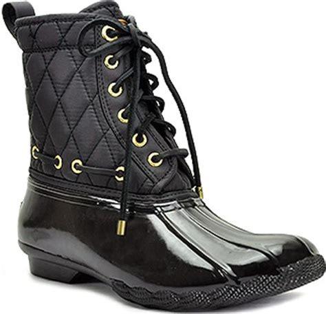 black duck boots sperry top sider shearwater black waterproof duck boot