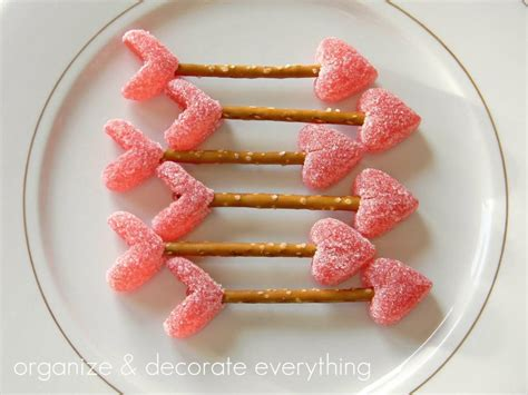 valentines treats it s written on the wall shaped food for your