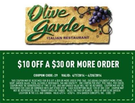 Olive Garden Printable Coupons October 2014 by Restaurant Coupons And Discounts For The Week Of April 17