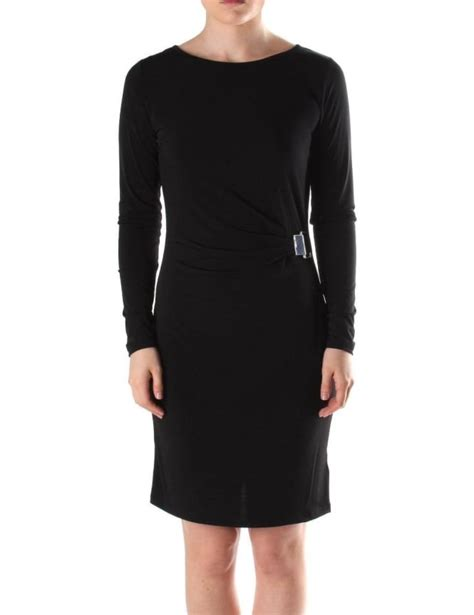 long sleeve drape dress michael kors metal plate women s long sleeve drape dress black