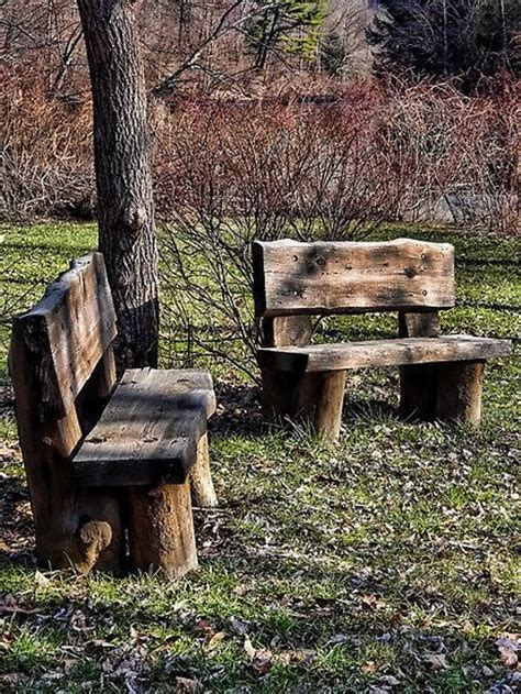 Rugged Outdoor These Rugged Outdoor Benches Diy Crafts Pinterest Outdoor Benches Logs