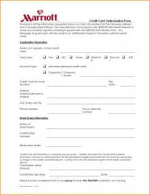 Authorization Letter Format For Hotel Booking hotel credit card authorization form authorization letter