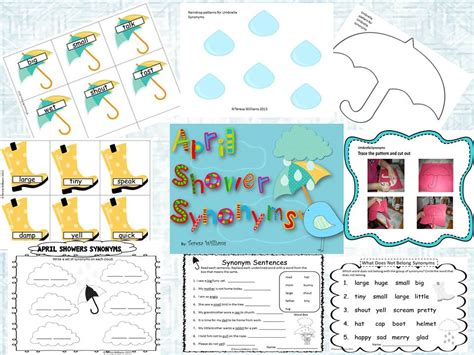 Shower Synonyms by 2nd Grade Pig Pen Take It And Make It Thursday