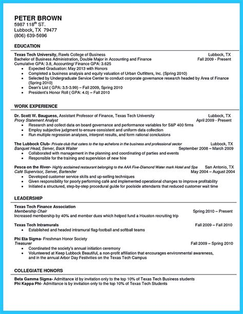 Sle Resume Of A Undergraduate College Student current college student resume sle 28 images