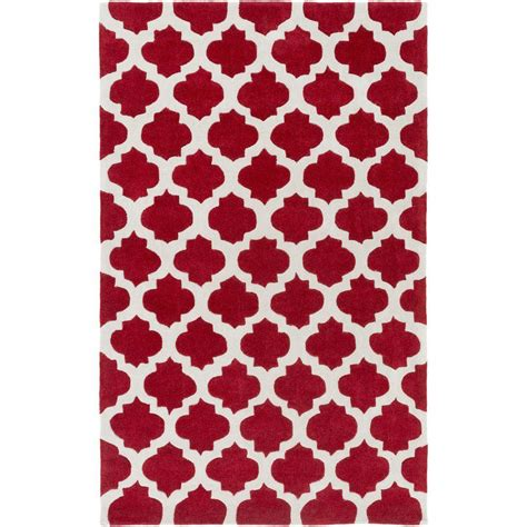 Poppy Area Rug Artistic Weavers Ettrick Cherry 3 Ft 6 In X 5 Ft 6 In