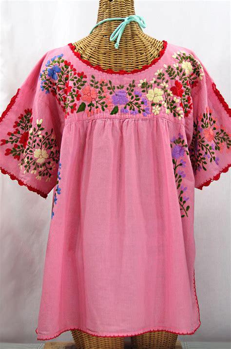 Blouse By Liblre quot lijera libre quot plus size mexican blouse bubblegum pink