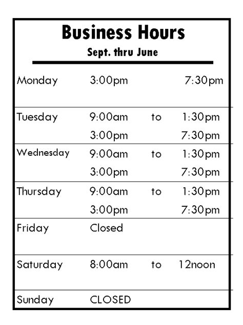 office hours template office hours