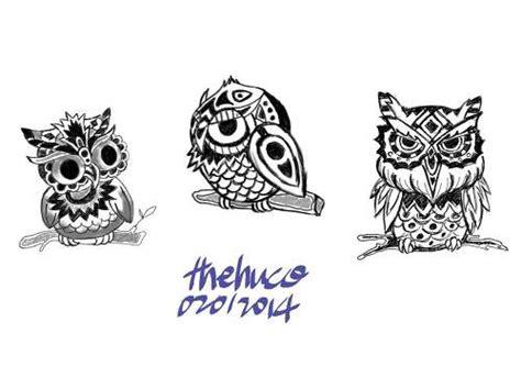 owl tattoo design 부엉이 타투 도안
