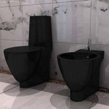 hänge wc bidet set vidaxl co uk black ceramic toilet bidet set