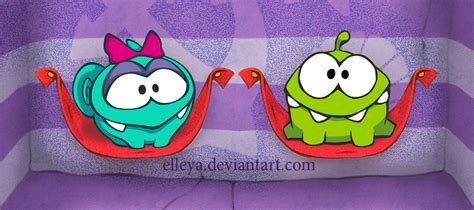 Yammy   Om nom's girlfriend. Cut the rope. by Elleya on