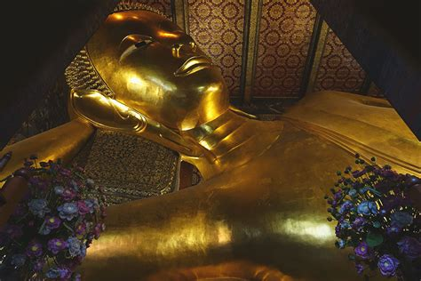 Reclining Budda by Wat Pho The Temple Of The Reclining Buddha