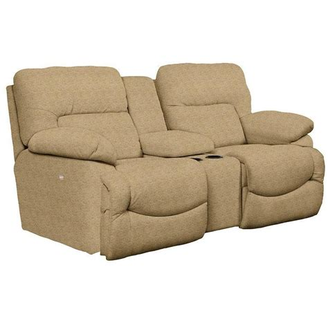 reclining loveseat with middle console asher power la z time 174 loveseat with middle console