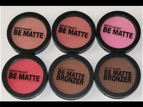 Makeup City Colour city color cosmetics be matte blush bronzers review
