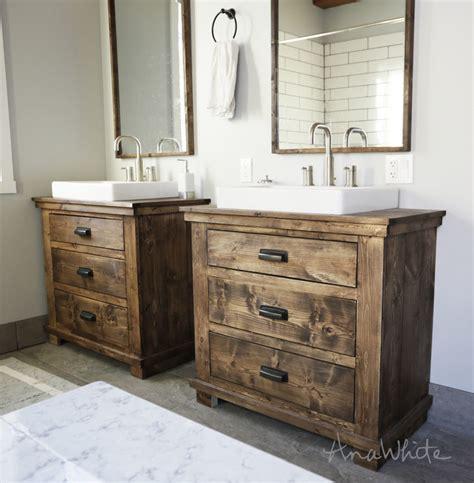 Vanity In Bathroom by White Rustic Bathroom Vanities Diy Projects