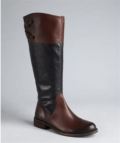 vince camuto black and cognac leather buckle keaton