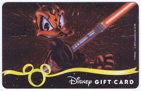 Star Wars Gift Cards - dizdude com star wars gift card with donald duck as darth maul disney star wars weekends