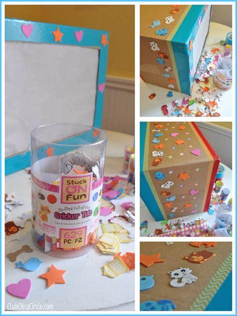 shadow box tv craft idea with pomtree kids