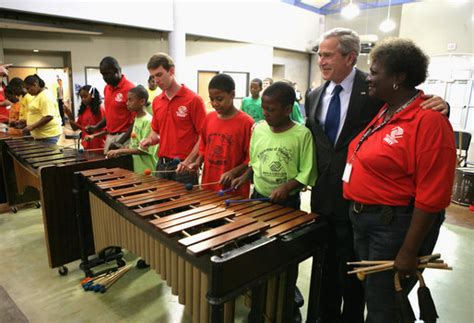 hail to the chief y all presidential visits to books president bush visits boys and club in wichita kansas