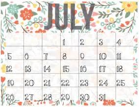 july 2017 calendar cute weekly calendar template