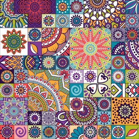 ethnic background ethnic background tile texture vector free