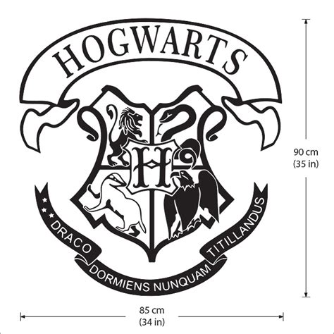 Hairstyle Tools Designs For Silhouette Harry by Hogwarts School Logo Harry Potter Vinyl Wall Decal