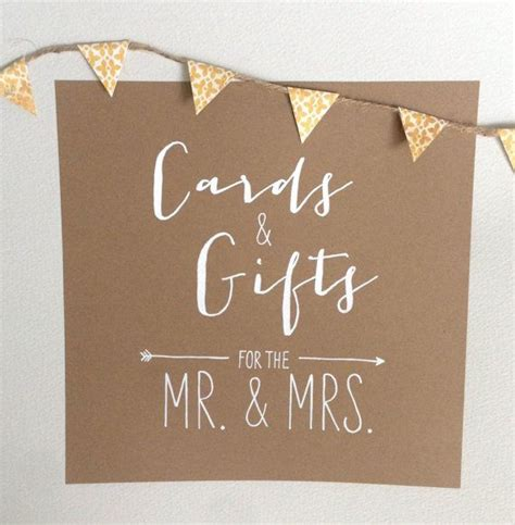 rustic gift card table sign