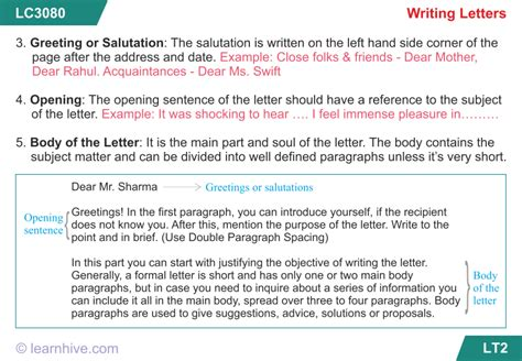learnhive icse grade  english letter writing lessons
